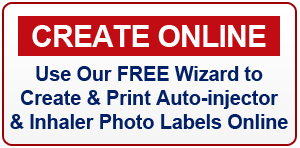 Click here to print free auto-injector & inhaler photo labels